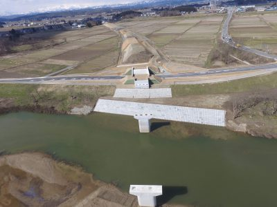 八幡地区道路改良工事