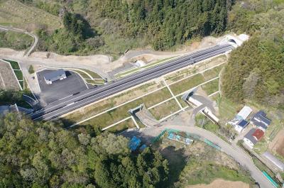 霊山地区道路改良工事